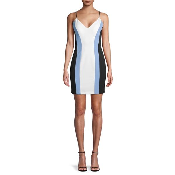 ジャンプ レディース ワンピース トップス Colorblock Mini Dress Black Blue