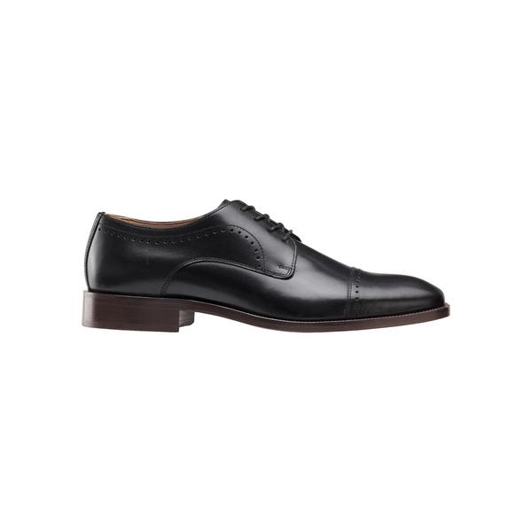 ジョンストンアンドマーフィー メンズ ドレスシューズ シューズ Sanborn Leather Derbys Black