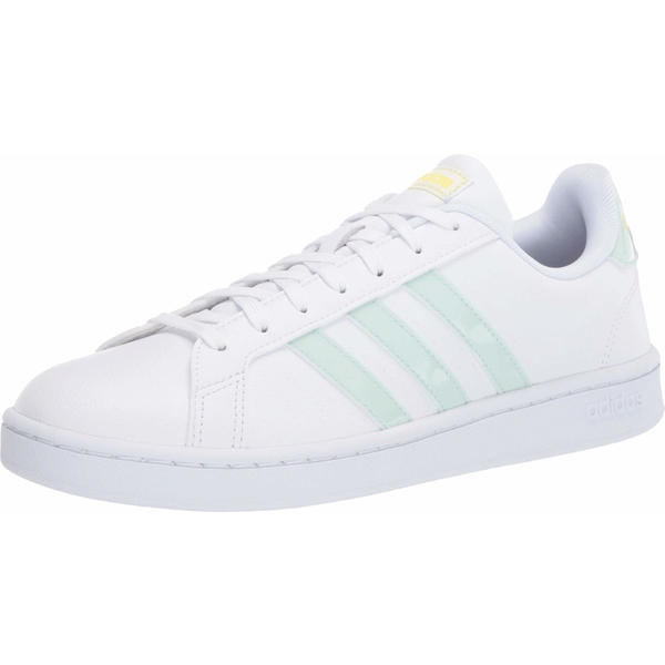 アディダス レディース スニーカー シューズ Grand Court Footwear White Dash Green Shock YellowD2IWE9H