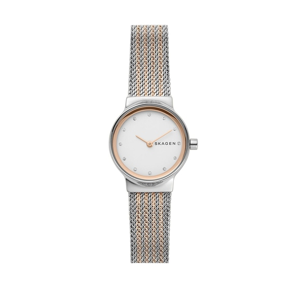スカーゲン レディース 腕時計 アクセサリー Freja Two-Tone Stainless Steel Mesh Bracelet Watch Two Tone