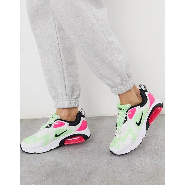 ナイキ レディース スニーカー シューズ Nike Air Max 200 sneakers in white green and pink Green/pink:asty