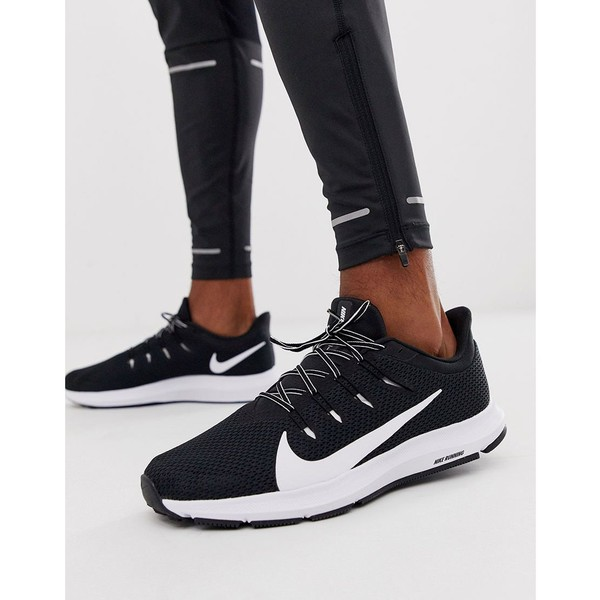 ナイキ メンズ スニーカー シューズ Nike Running Quest 2 sneakers in black/white Black