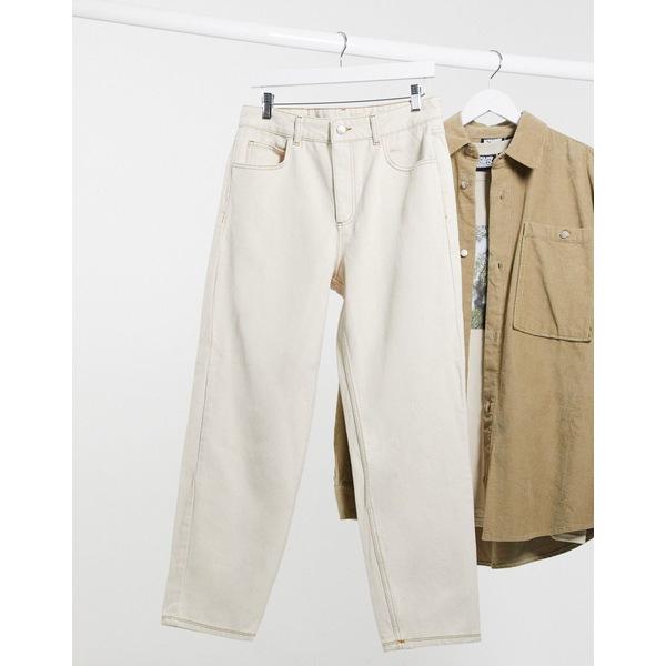 リクレイム ヴィンテージ メンズ デニムパンツ ボトムス Reclaimed Vintage inspired classic fit jeans in ecru Ecru