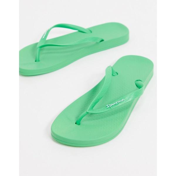 イパネマ レディース サンダル シューズ Ipanema anatomic flip flop in green Bright green