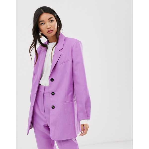 エイソス レディース ジャケット&ブルゾン アウター ASOS DESIGN oversized dad suit blazer in lilac Lilac