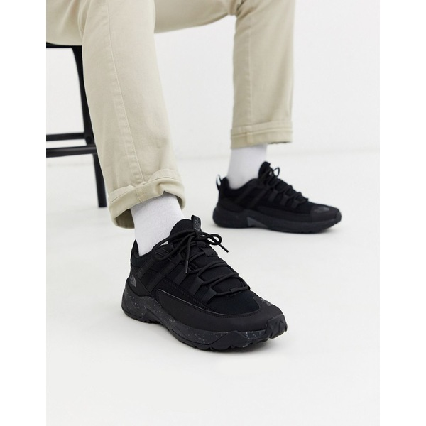 ノースフェイス メンズ スニーカー シューズ The North Face Trail Escape Crest sneakers in black Black
