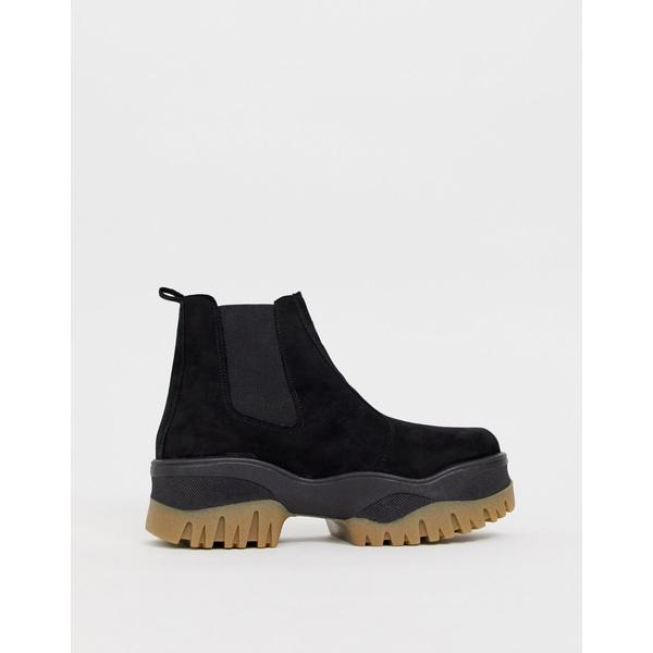 エイソス レディース ブーツ&レインブーツ シューズ ASOS DESIGN Alvera chunky chelsea boots Black