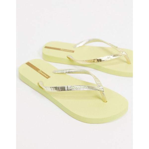 イパネマ レディース サンダル シューズ Ipanema glam flip flops in yellow Yellow