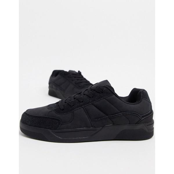 エイソス メンズ スニーカー シューズ ASOS DESIGN sneakers with padded tongue in washed black Black