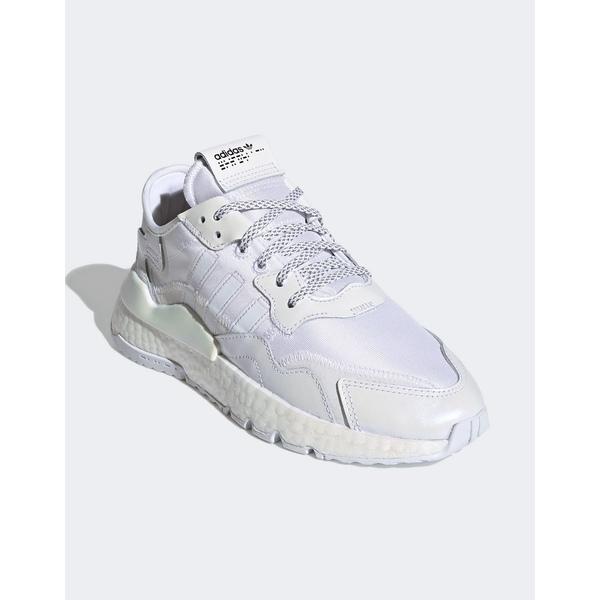 アディダスオリジナルス レディース スニーカー シューズ adidas Originals Nite Jogger sneaker in white White