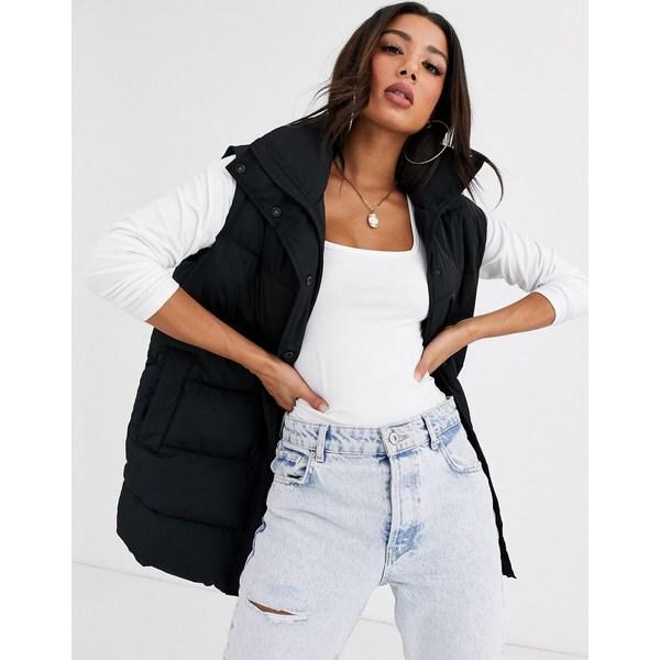 エイソス レディース コート アウター ASOS DESIGN padded vest jacket in black Black