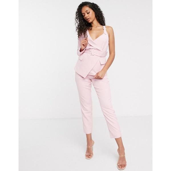 ラビッシュアリス レディース カジュアルパンツ ボトムス Lavish Alice high waisted tailored pants in pink Pink