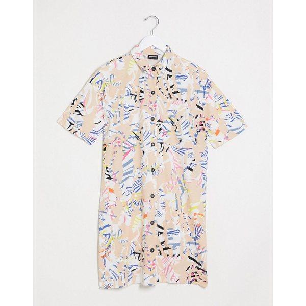 ノイジーメイ レディース ワンピース トップス Noisy May mini shirt dress in abstract print Multi