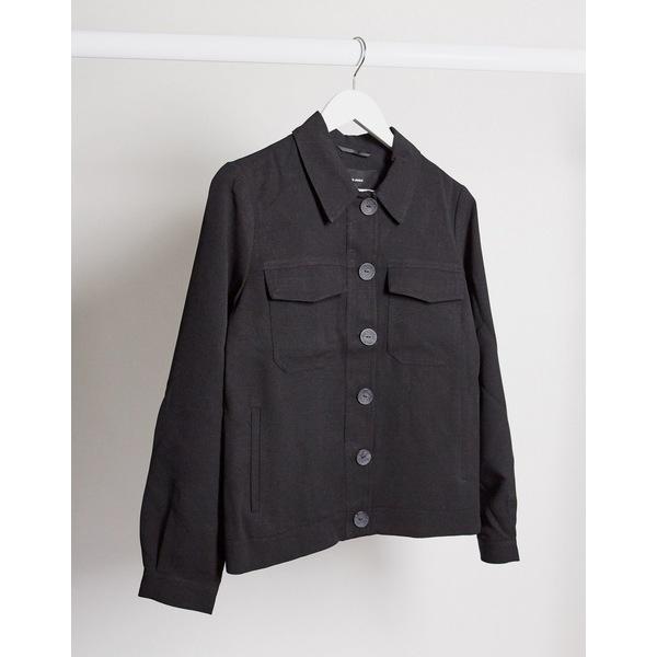 ヴェロモーダ レディース ジャケット&ブルゾン アウター Vero Moda oversized trucker jacket in black Black