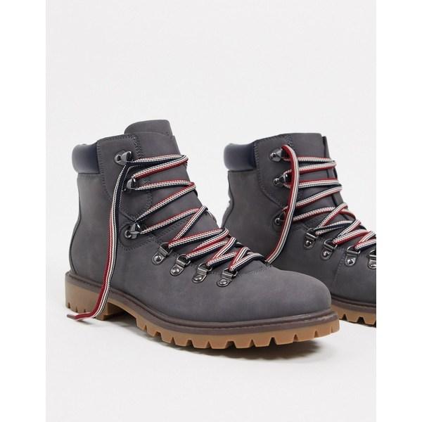 トミー ヒルフィガー メンズ ブーツ&レインブーツ シューズ Tommy Hilfiger jeckel boots in gray Grall