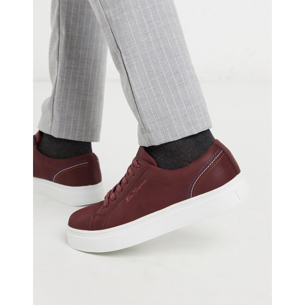 ベンシャーマン メンズ スニーカー シューズ Ben Sherman chunky sole lace up sneakers in brown Red