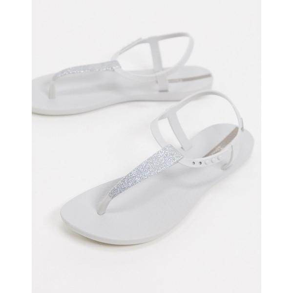 イパネマ レディース サンダル シューズ Ipanema pop glitter flat sandals in white White