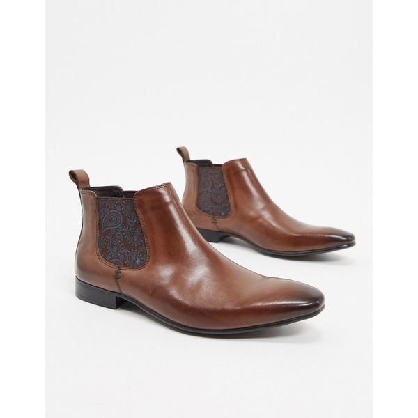 シルバーストリート メンズ ブーツ&レインブーツ シューズ Silver Street chelsea boot in brown leather Brown