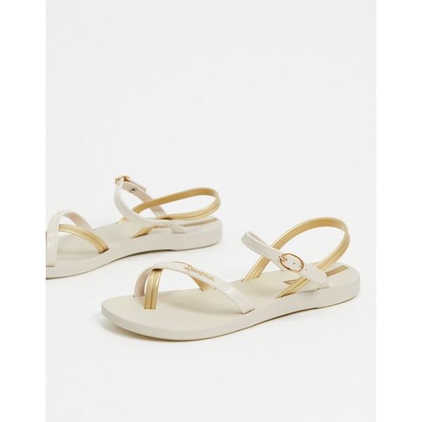 イパネマ レディース サンダル シューズ Ipanema toe loop flat sandals Ivory