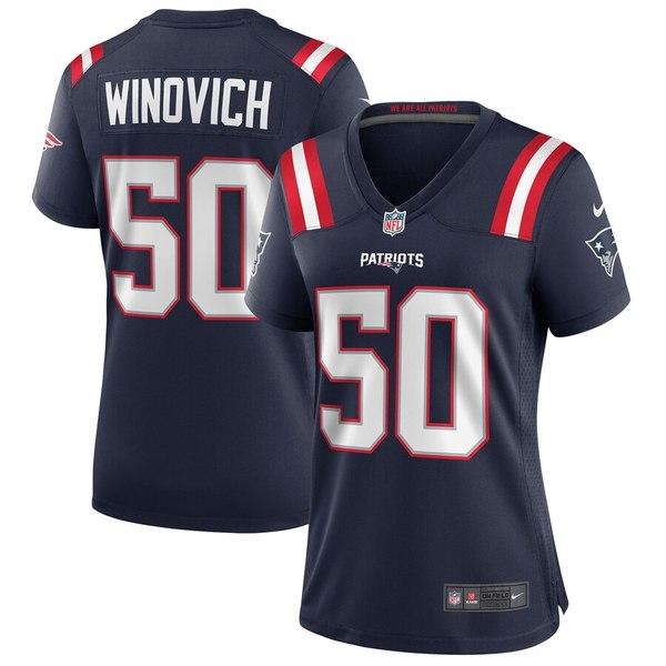 ナイキ レディース シャツ トップス Chase Winovich New England Patriots Nike Women's Game Jersey Navy