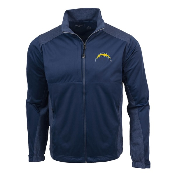 アンティグア メンズ ジャケット&ブルゾン アウター Los Angeles Chargers Antigua Revolve Full-Zip Jacket Navy