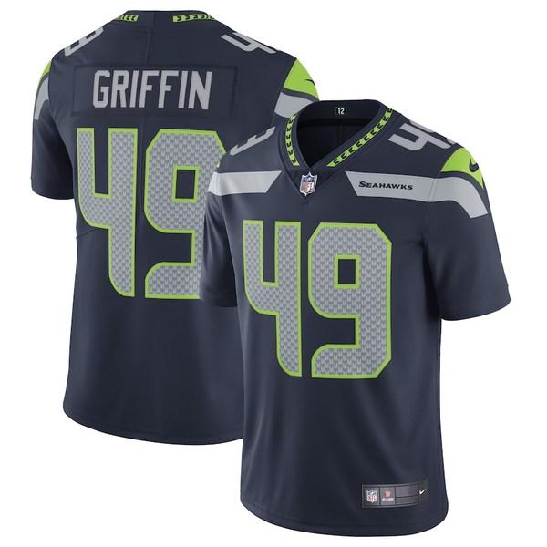 ナイキ メンズ シャツ トップス Shaquem Griffin Seattle Seahawks Nike Vapor Untouchable Limited Jersey Navy
