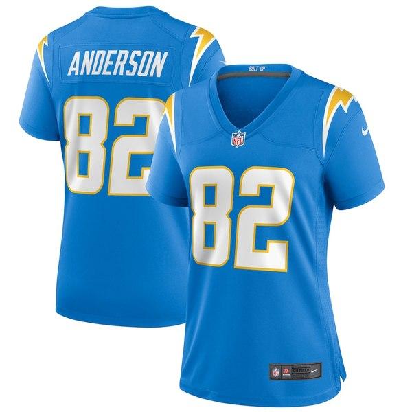 ナイキ レディース シャツ トップス Stephen Anderson Los Angeles Chargers Nike Women's Player Game Jersey Powder Blue