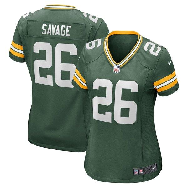ナイキ レディース シャツ トップス Darnell Savage Green Bay Packers Nike Women's Game Jersey Green