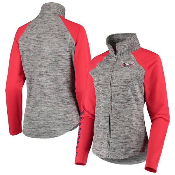 カールバンクス レディース ジャケット&ブルゾン アウター Washington Capitals G-III 4Her by Carl Banks Women's Energize Full-Zip Jacket Gray/Red