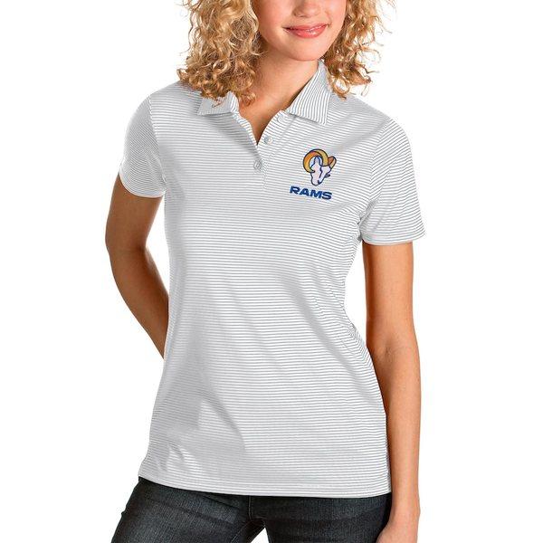 アンティグア レディース ポロシャツ トップス Los Angeles Rams Antigua Women's Quest Polo White/Silver