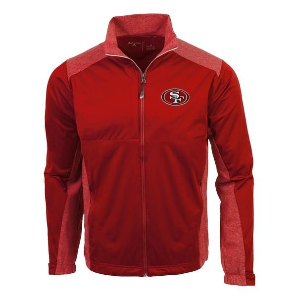 アンティグア メンズ ジャケット&ブルゾン アウター San Francisco 49ers Antigua Revolve Full-Zip Jacket Red