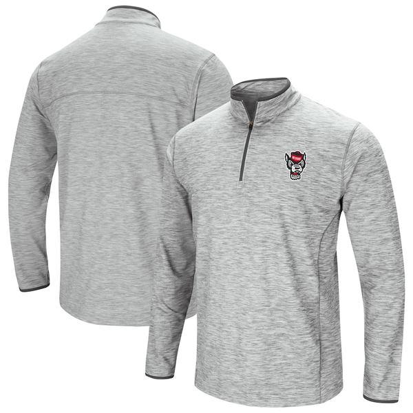 コロシアム メンズ ジャケット&ブルゾン アウター NC State Wolfpack Colosseum Spring Quarter-Zip Pullover Windshirt Jacket Heathered Gray