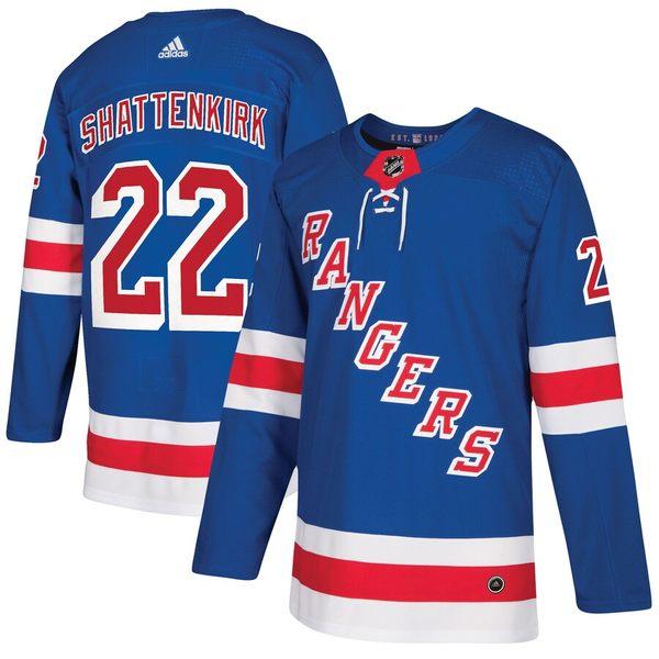 アディダス メンズ シャツ トップス Kevin Shattenkirk New York Rangers adidas Authentic Player Jersey Blue
