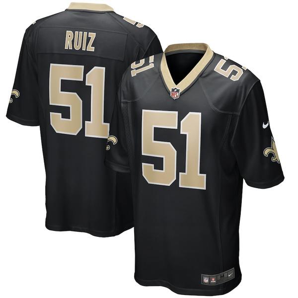 ナイキ メンズ シャツ トップス Cesar Ruiz New Orleans Saints Nike 2020 NFL Draft First Round Pick Game Jersey Black