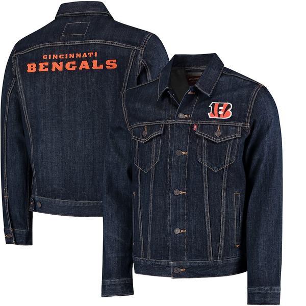 リーバイス メンズ ジャケット&ブルゾン アウター Cincinnati Bengals Levi's Sports Denim Trucker Jacket Blue