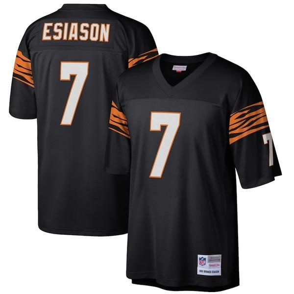 ミッチェル&ネス メンズ シャツ トップス Boomer Esiason Cincinnati Bengals Mitchell & Ness Retired Player Legacy Replica Jersey Black
