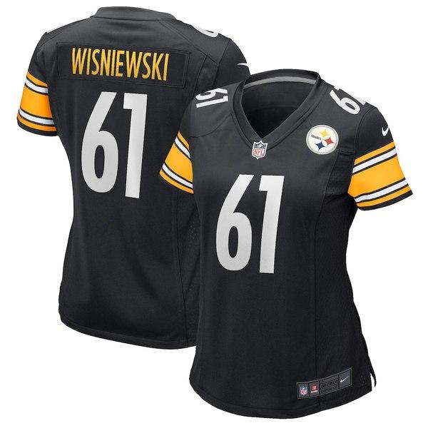 ナイキ レディース シャツ トップス Stefen Wisniewski Pittsburgh Steelers Nike Women's Game Jersey Black