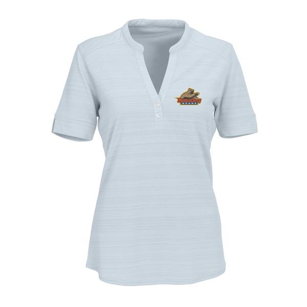 ビンテージアパレル レディース シャツ トップス Morgan State Bears Women's Strata Textured Henley Shirt Silver