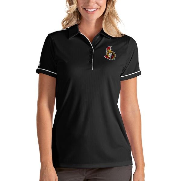 アンティグア レディース ポロシャツ トップス Ottawa Senators Antigua Women's Salute Polo Black/White