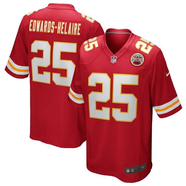 ナイキ メンズ ユニフォーム トップス Clyde Edwards Helaire Kansas City Chiefs Nike Game Jersey Red