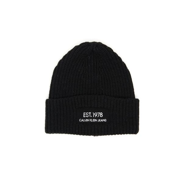 カルバンクライン レディース 帽子 アクセサリー Calvin Klein Logo Knit Beanie -