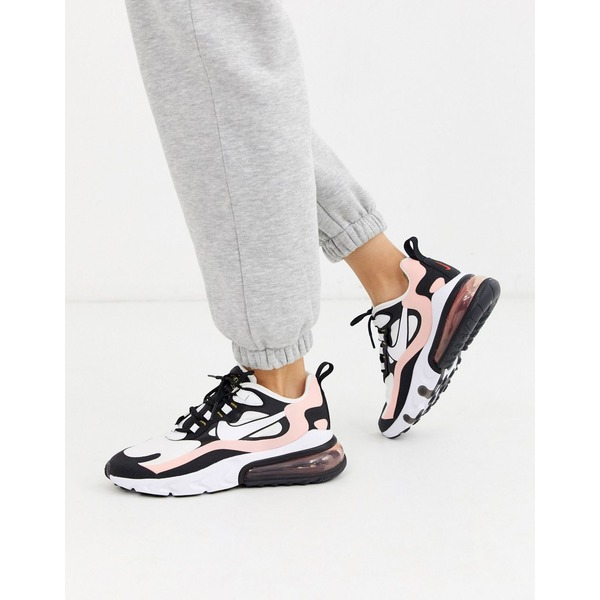 ナイキ レディース スニーカー シューズ Nike pink and black Air Max 270 React sneakers Black/white/coral