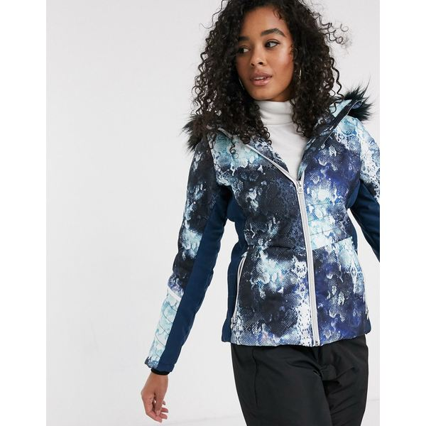 デアツービー レディース コート アウター Dare2b Iceglaze jacket in blue Blue wing cosmic