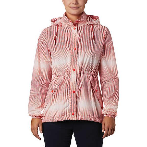コロンビア レディース ジャケット&ブルゾン アウター Columbia Women's Day Trippin' Jacket Bold Orange Ombre Stripe
