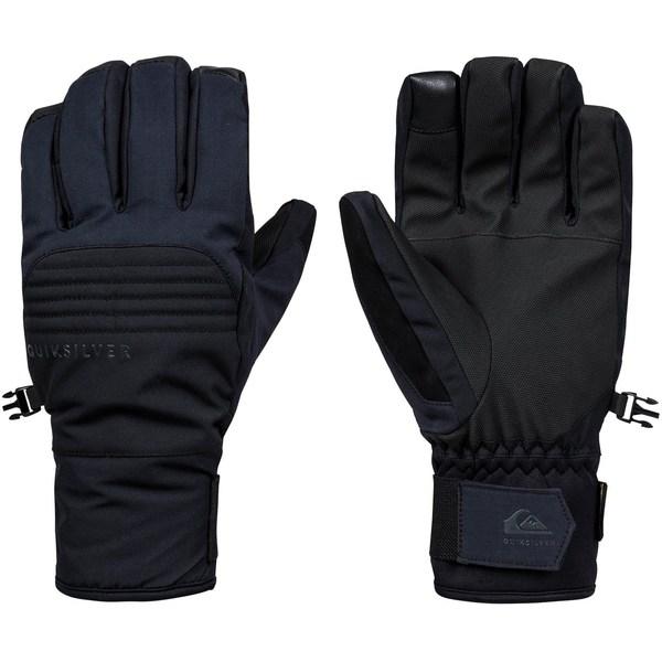 クイックシルバー メンズ 手袋 アクセサリー Quiksilver Men's Hill Gore-Tex Snow Gloves Black