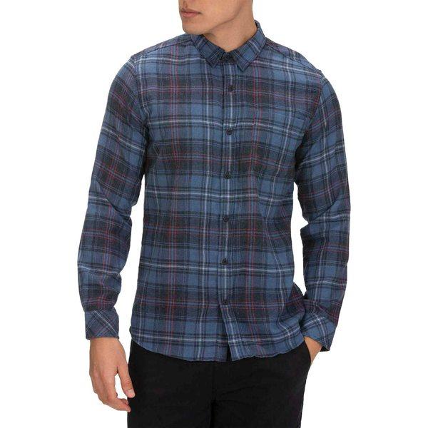 ハーレー メンズ シャツ トップス Hurley Men's Vedder Washed Long Sleeve Woven Shirt MysticNavy