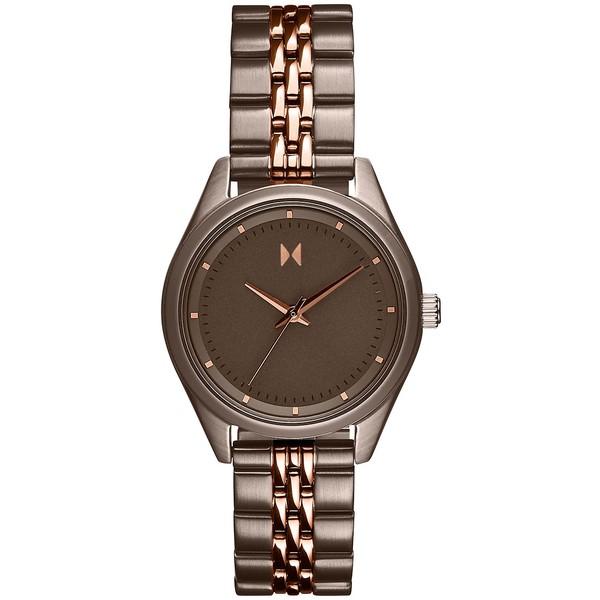 買い誠実 エムブイエムティー レディース 腕時計 アクセサリー Women's Rise Mini Two-Tone Stainless Steel Bracelet Watch 30mm Brown, 中古パチスロ販売 BIG cdc8872d