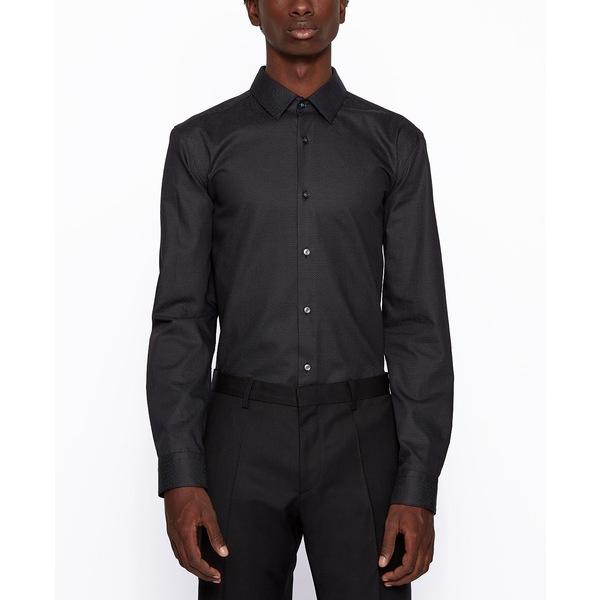 本物の ヒューゴボス メンズ シャツ トップス BOSS Men&39;s Isko Slim-Fit Shirt Black, ビジネスサプライセンター 17c3ac42