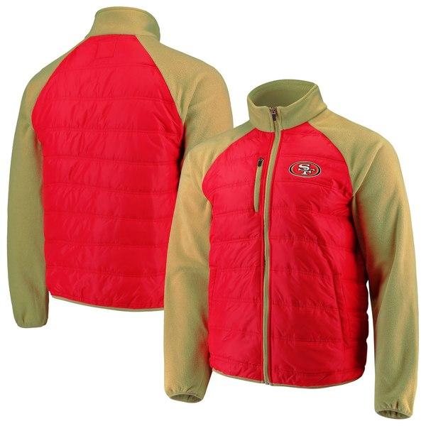 カールバンクス メンズ ジャケット&ブルゾン アウター San Francisco 49ers GIII Sports by Carl Banks Reinforcer FullZip Jacket Scarlet/Gold