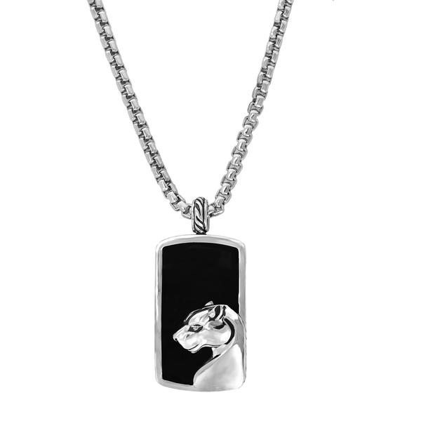 本物の エフィー Sterling メンズ ネックレス・チョーカー アクセサリー Sterling Silver Silver アクセサリー Onyx Pendant Necklace BLACK, ツルガシマシ:db67b539 --- arg-serv.ru